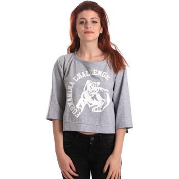 textil Dam Sweatshirts Fornarina BE176841F42706 Grå