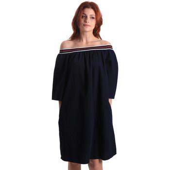 textil Dam Korta klänningar Fornarina BE178D60D883NT Blå