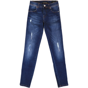textil Dam Jeans boyfriend Fornarina BER1I89D844UA Blå