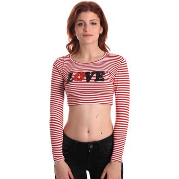 textil Dam Långärmade T-shirts Fornarina SE175L14JG0976 Röd