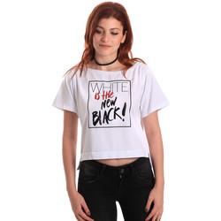 textil Dam T-shirts Fornarina SE175L28JG0709 Vit
