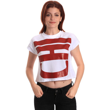 textil Dam T-shirts Fornarina SE175L31JG0709 Vit