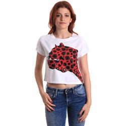textil Dam T-shirts Fornarina SE175L32JG0709 Röd