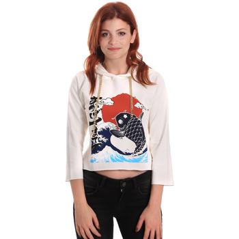 textil Dam Sweatshirts Fornarina SE176842F42709 Vit