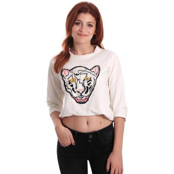 textil Dam Sweatshirts Fornarina SE176844F42709 Vit