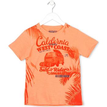 textil Barn T-shirts Losan 713 1022AA Orange