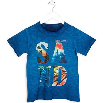 textil Pojkar T-shirts Losan 713 1023AA Blå