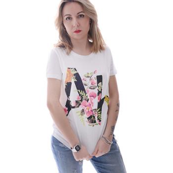 textil Dam T-shirts Fracomina FR20SP368 Vit
