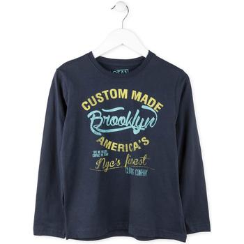 textil Pojkar Långärmade T-shirts Losan 713 1202AA Blå
