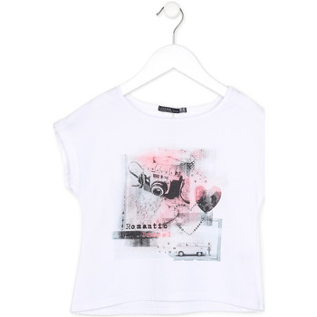 textil Flickor T-shirts Losan 714 1014AB Vit