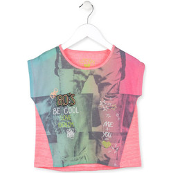 textil Flickor T-shirts Losan 714 1017AB Rosa