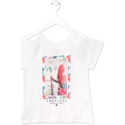textil Flickor T-shirts Losan 714 1026AB Vit