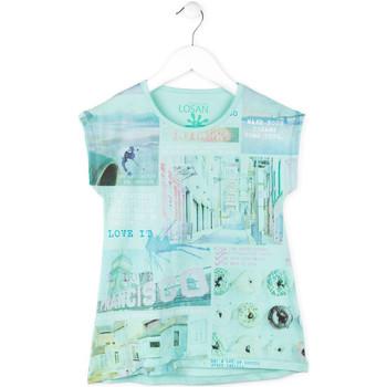 textil Flickor T-shirts Losan 714 1215AB Blå