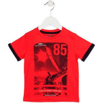 textil Pojkar T-shirts Losan 715 1001AC Röd
