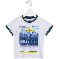 textil Pojkar T-shirts Losan 715 1013AC Vit