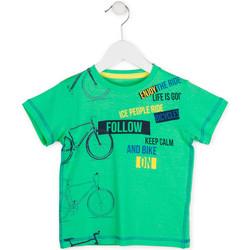 textil Pojkar T-shirts Losan 715 1014AC Grön