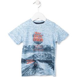textil Pojkar T-shirts Losan 715 1018AC Blå