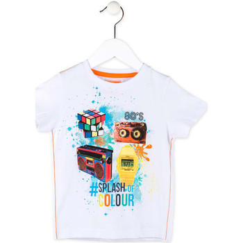 textil Pojkar T-shirts Losan 715 1023AC Vit