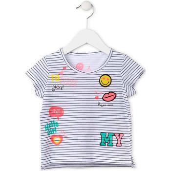 textil Flickor T-shirts Losan 716 1033AD Vit