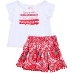 textil Flickor Set Losan 716 8010AD Vit