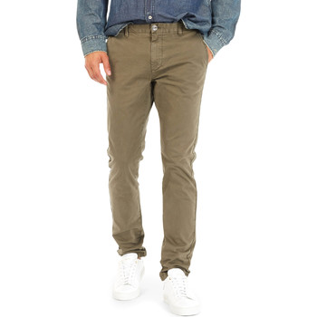 textil Herr Chinos / Carrot jeans Gas 360702 Grön
