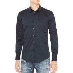 textil Herr Långärmade skjortor Antony Morato MMSL00415 FA450001 Blå
