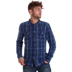 textil Herr Långärmade skjortor Gaudi 721BU46005 Blå