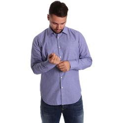 textil Herr Långärmade skjortor Gmf 972160/04 Blå