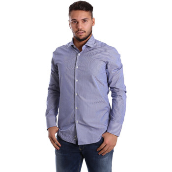 textil Herr Långärmade skjortor Gmf 972908/04 Blå