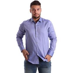 textil Herr Långärmade skjortor Gmf 972103/05 Blå