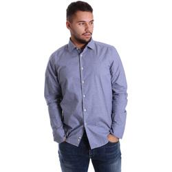 textil Herr Långärmade skjortor Gmf 972144/01 Blå