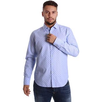 textil Herr Långärmade skjortor Gmf 972158/01 Blå