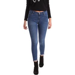 textil Dam Skinny Jeans Gas 355652 Blå