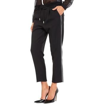 textil Dam Chinos / Carrot jeans Gas 365777 Svart