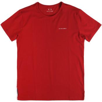 textil Herr T-shirts Key Up 2G69S 0001 Röd