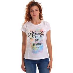 textil Dam T-shirts Key Up 5D59S 0001 Vit