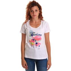 textil Dam T-shirts Key Up 5D58S 0001 Vit