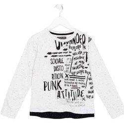 textil Barn Långärmade T-shirts Losan 723 1005AA Vit