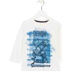 textil Barn Långärmade T-shirts Losan 725 1000AC Vit
