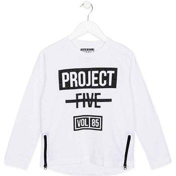 textil Barn Långärmade T-shirts Losan 723 1010AA Vit