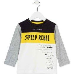 textil Barn Långärmade T-shirts Losan 725 1018AC Vit