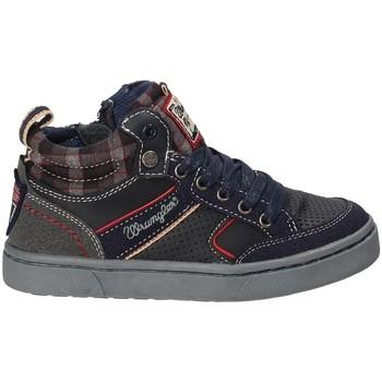 Skor Barn Höga sneakers Wrangler WJ17225B Blå