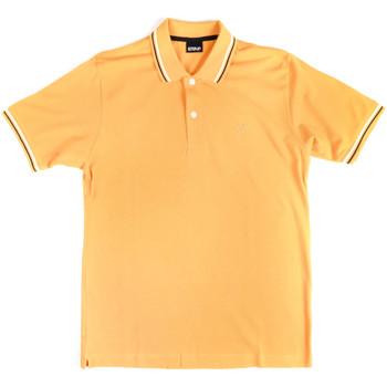 textil Herr Kortärmade pikétröjor Key Up 2Q70G 0001 Gul