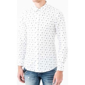 textil Herr Långärmade skjortor Antony Morato MMSL00425 FA430306 Vit