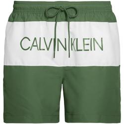 textil Herr Badbyxor och badkläder Calvin Klein Jeans KM0KM00456 Grön