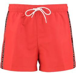 textil Herr Badbyxor och badkläder Calvin Klein Jeans KM0KM00457 Röd