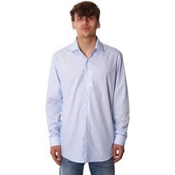 textil Herr Långärmade skjortor Calvin Klein Jeans K10K105402 Blå