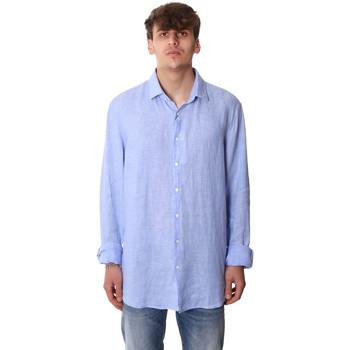 textil Herr Långärmade skjortor Calvin Klein Jeans K10K106018 Blå