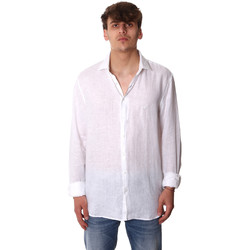 textil Herr Långärmade skjortor Calvin Klein Jeans K10K106018 Vit