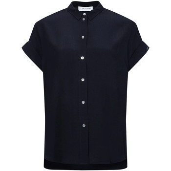 textil Dam Skjortor / Blusar Calvin Klein Jeans K20K201950 Svart